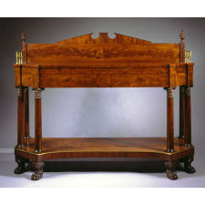 Classical Carved Mahogany Sideboard