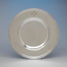 Arthur Stone Arts & Crafts Sterling Silver Alms Basin, Gardner, MA, c. 1922