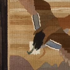 """Mallards In Flight"", Grenfell Hooked Rug"