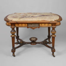 """Center Table with Marble Top"" Attributed to Pottier and Stymus, New York"