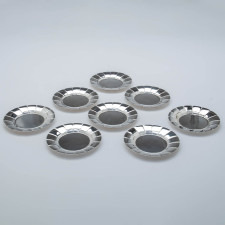 Erik Magnussen for Gorham Sterling Silver Art Deco Bread Plates, set of 8, 1927