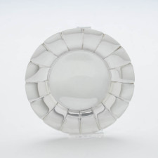 Single plate of the Erik Magnussen for Gorham Sterling Silver Art Deco Bread Plates, set of 8, 1927