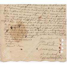 Cochran signed indenture 1784