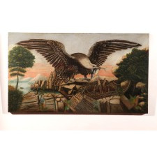 Allegory with eagle and eaglets