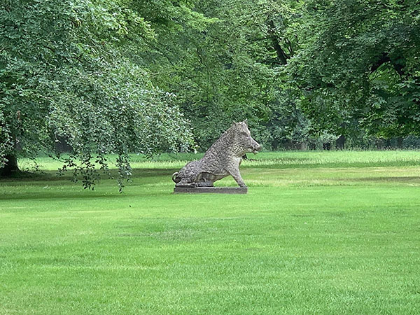 The Uffizi Boar, Il Porcellino, in the landscape at Cottesbrooke Hall greeted us as we arrived.